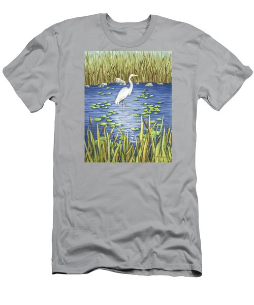 Wading And Watching Men's T-Shirt (Athletic Fit)