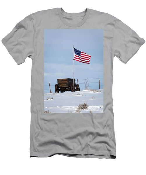 Wagon And Flag Men's T-Shirt (Athletic Fit)