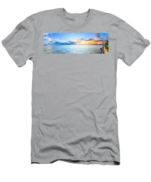 Waikiki Sunset After An Afternoon Thunderstorm Men's T-Shirt (Athletic Fit)