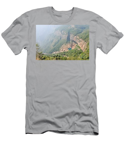 Waiting For The Monsoons Men's T-Shirt (Slim Fit) by Fotosas Photography