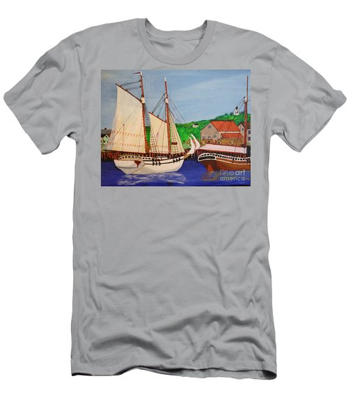 Waiting For The Salt Men's T-Shirt (Slim Fit) by Bill Hubbard