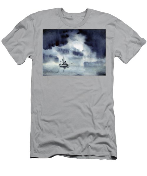 Waiting Out The Squall Men's T-Shirt (Athletic Fit)