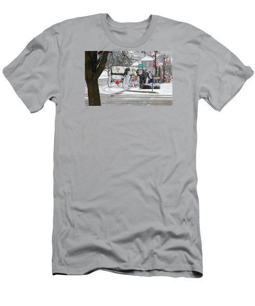 Men's T-Shirt (Slim Fit) featuring the photograph Waiting To Give A Ride by Janice Adomeit