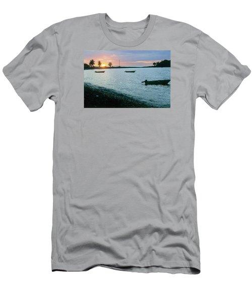 Waitukubuli Sunset Men's T-Shirt (Athletic Fit)
