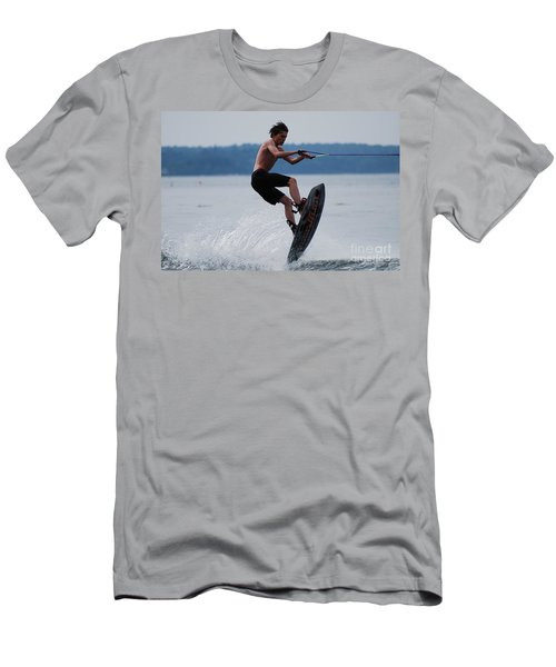 Wakeboarder Men's T-Shirt (Slim Fit) by DejaVu Designs