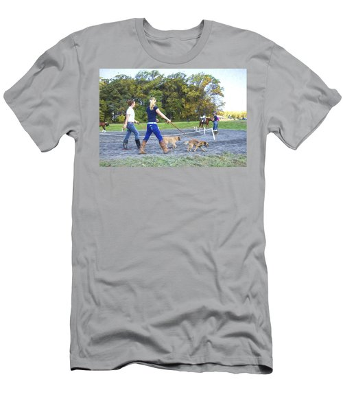 Walking The Dogs Men's T-Shirt (Athletic Fit)