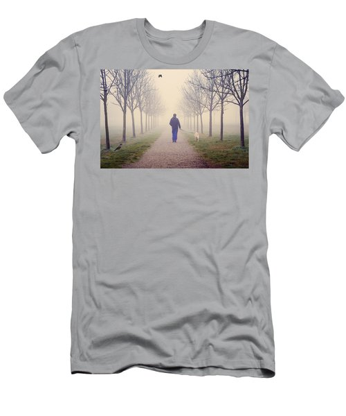 Walking With The Dog Men's T-Shirt (Athletic Fit)