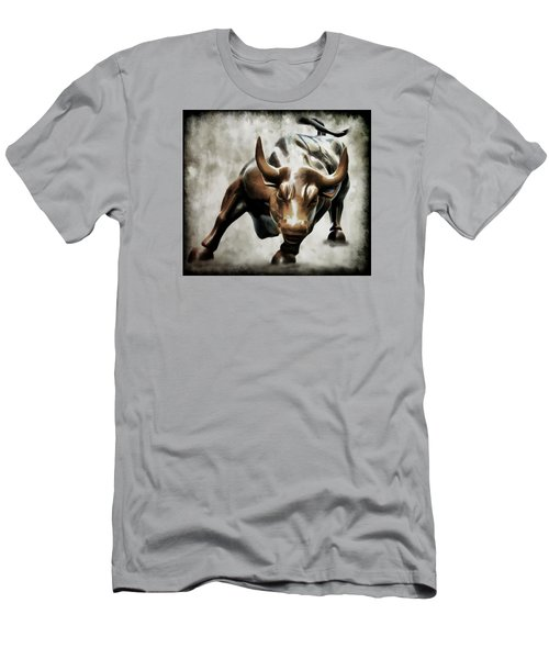 Wall Street Bull II Men's T-Shirt (Athletic Fit)
