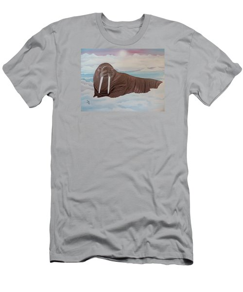 Men's T-Shirt (Slim Fit) featuring the painting Walter by Dianna Lewis