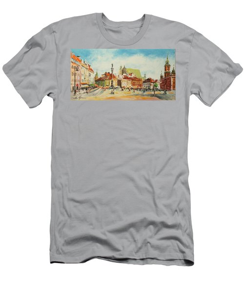 Warsaw- Castle Square Men's T-Shirt (Athletic Fit)