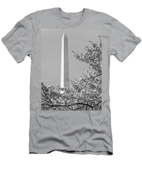 Washington Monument Amidst The Cherry Blossoms Men's T-Shirt (Athletic Fit)