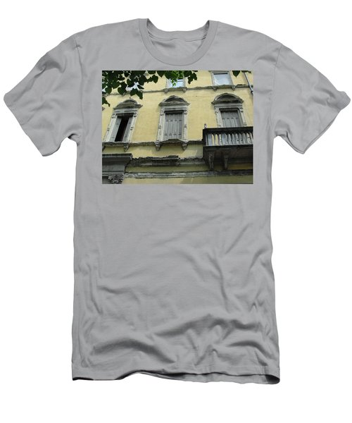 Men's T-Shirt (Slim Fit) featuring the photograph Watch Your Step by Natalie Ortiz