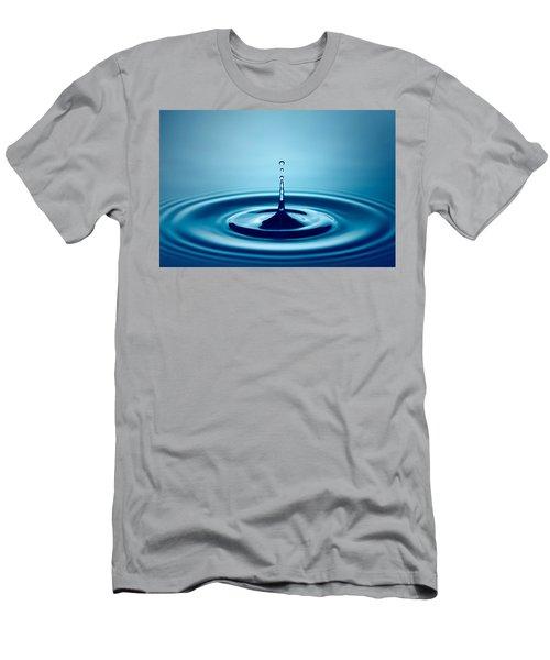 Water Drop Splash Men's T-Shirt (Slim Fit) by Johan Swanepoel