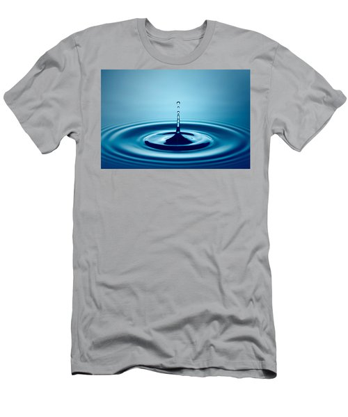 Water Drop Splash Men's T-Shirt (Athletic Fit)