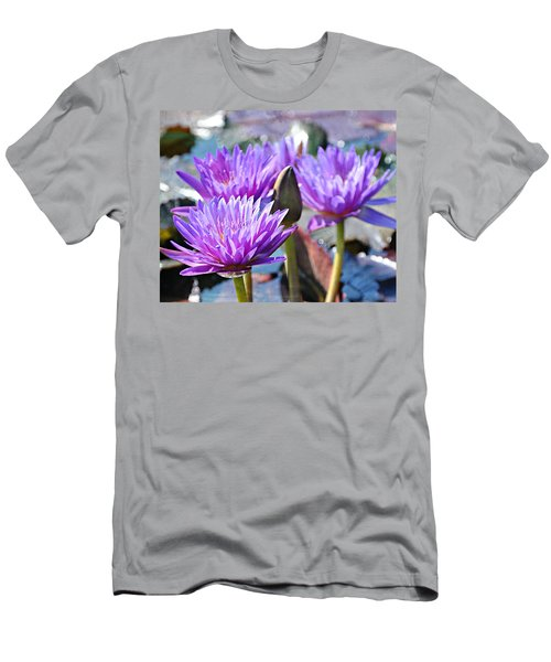 Men's T-Shirt (Slim Fit) featuring the photograph Water Flower 1006 by Marty Koch