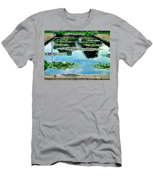 Water Lily Garden Men's T-Shirt (Slim Fit) by Zafer Gurel