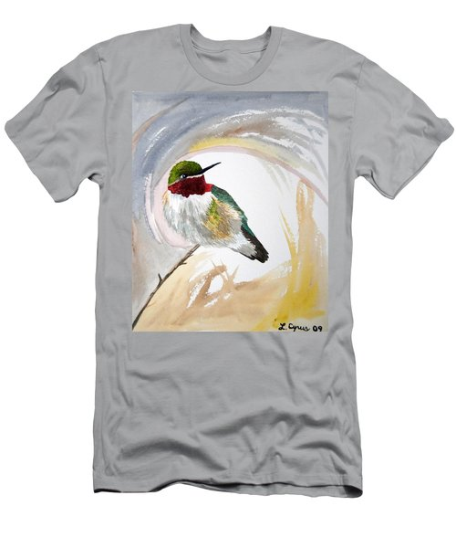Watercolor - Broad-tailed Hummingbird Men's T-Shirt (Athletic Fit)