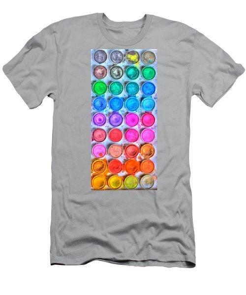 Watercolor Delight Men's T-Shirt (Athletic Fit)
