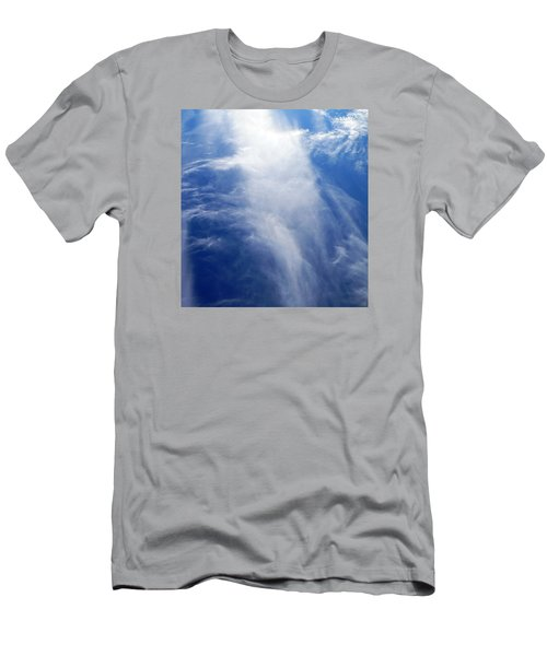 Waterfall In The Sky Men's T-Shirt (Slim Fit) by Belinda Lee