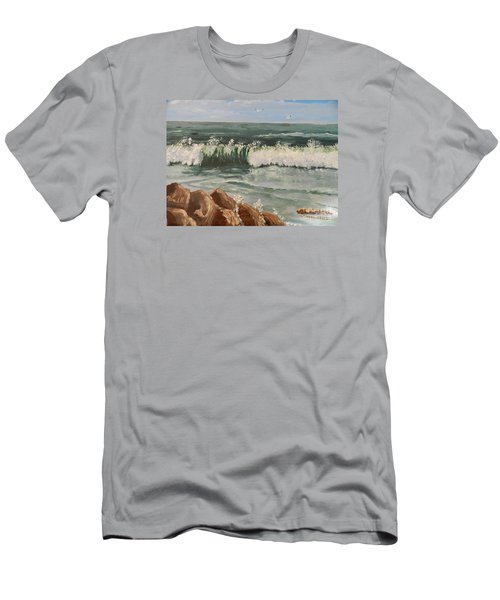 Waves Crashing Men's T-Shirt (Slim Fit)