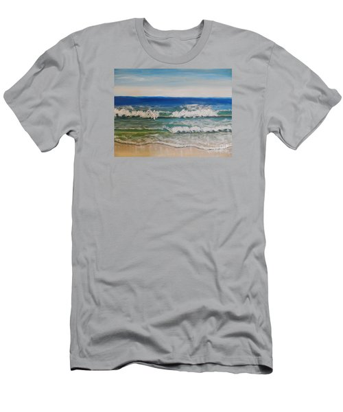 Waves Men's T-Shirt (Slim Fit) by Pamela  Meredith
