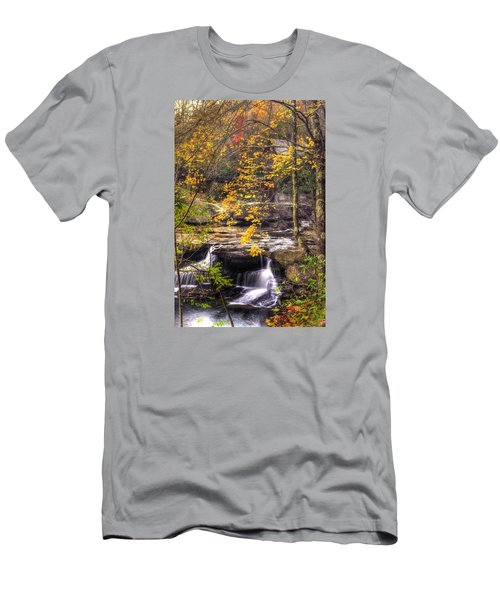 We Have Reached The Mill - Glade Creek Grist Mill Babcock State Park West Virginia - Autumn Men's T-Shirt (Athletic Fit)