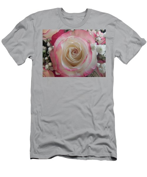 Men's T-Shirt (Slim Fit) featuring the photograph Wedding Bouquet by Deb Halloran