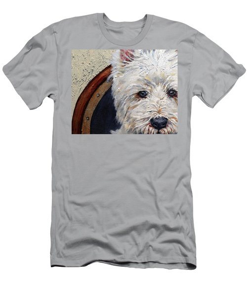 West Highland Terrier Dog Portrait Men's T-Shirt (Athletic Fit)