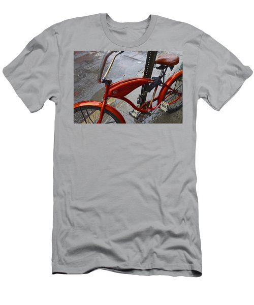 Wet Orange Bike   Nyc Men's T-Shirt (Athletic Fit)