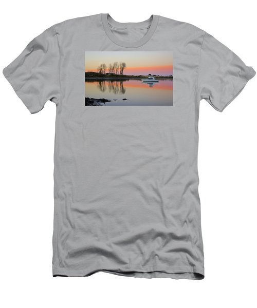 Whakatane At Sunset Men's T-Shirt (Slim Fit) by Venetia Featherstone-Witty