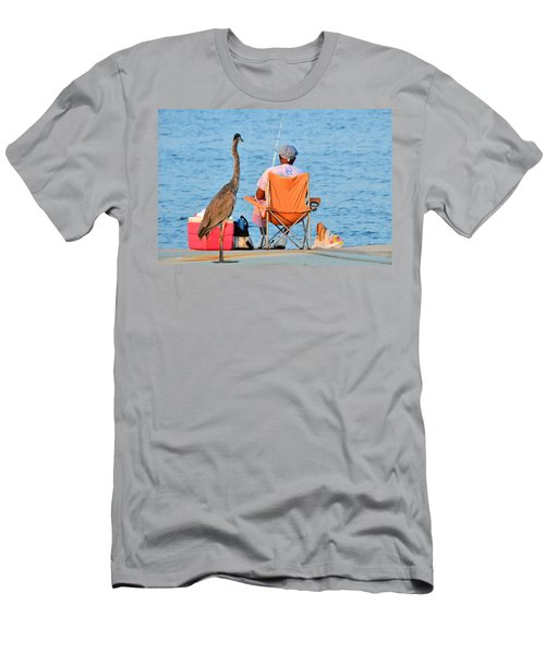 Men's T-Shirt (Slim Fit) featuring the photograph What's For Lunch by Charlotte Schafer