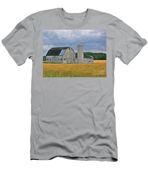 Wheat Field Barn Men's T-Shirt (Athletic Fit)