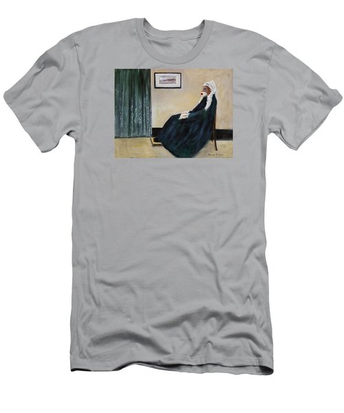 Men's T-Shirt (Slim Fit) featuring the painting Whistlin Mother by Randol Burns
