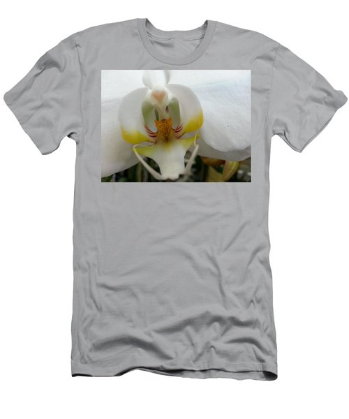 White And Yellow Orchid Men's T-Shirt (Athletic Fit)