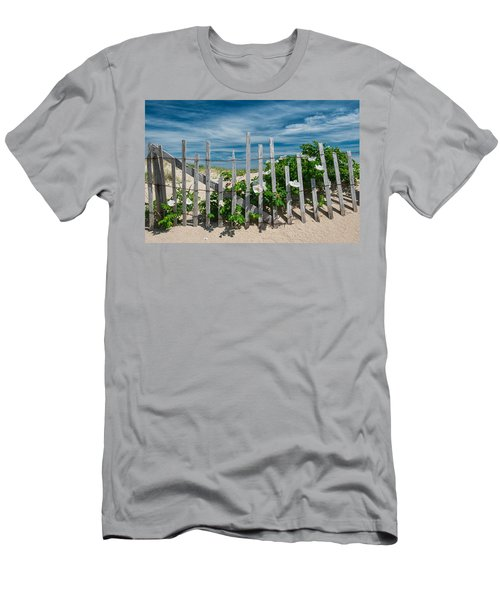 White Beach Roses Men's T-Shirt (Athletic Fit)