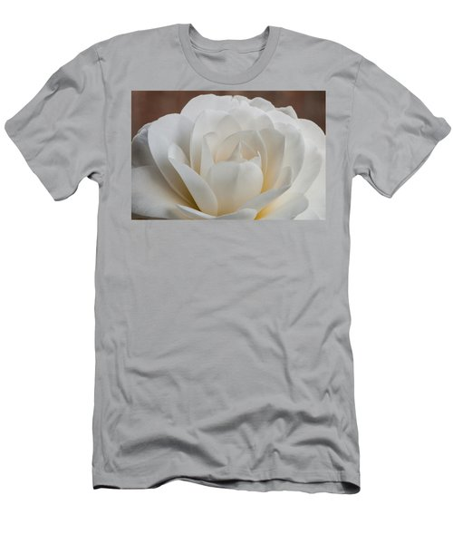 White Camellia Men's T-Shirt (Athletic Fit)