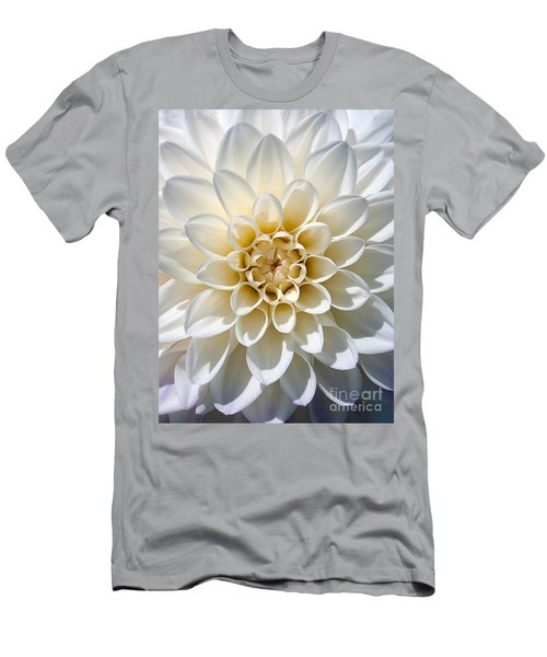 Men's T-Shirt (Slim Fit) featuring the photograph White Dahlia by Carsten Reisinger