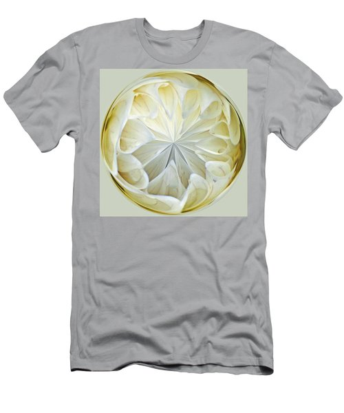 White Dahlia Orb Men's T-Shirt (Athletic Fit)