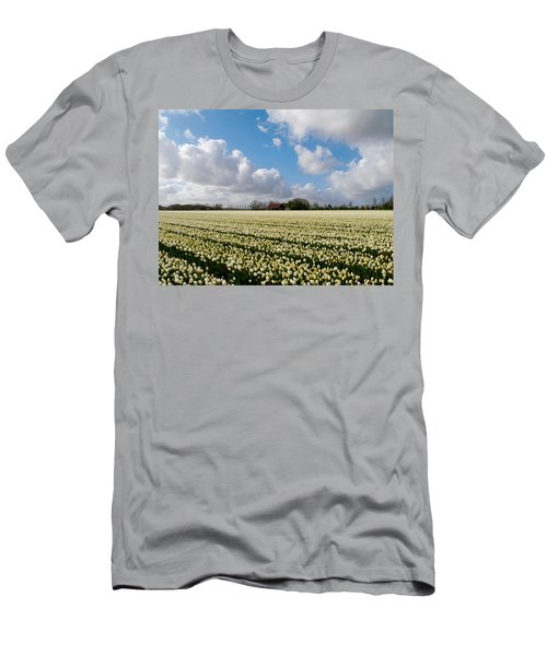 White Field Men's T-Shirt (Athletic Fit)