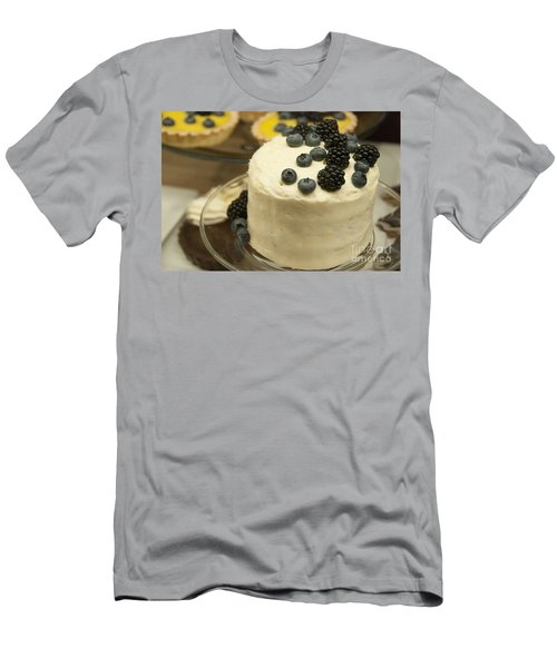 White Frosted Cake With Berries Men's T-Shirt (Slim Fit) by Juli Scalzi