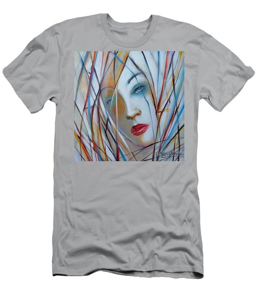 White Nostalgia 010310 Men's T-Shirt (Slim Fit) by Selena Boron