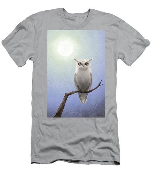 White Owl Men's T-Shirt (Athletic Fit)
