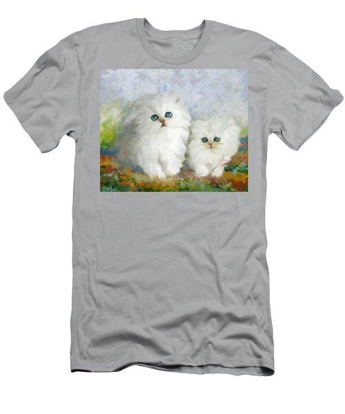 White Persian Kittens  Men's T-Shirt (Athletic Fit)