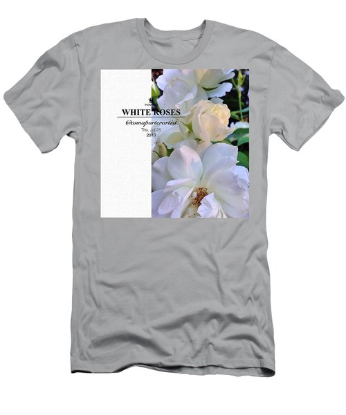 White Roses A Natural Bouquet Men's T-Shirt (Athletic Fit)