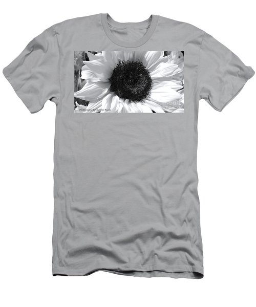 Men's T-Shirt (Slim Fit) featuring the photograph White Sunflower by Jeannie Rhode