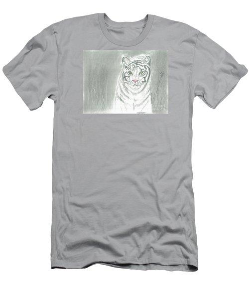 White Tiger Men's T-Shirt (Slim Fit) by David Jackson