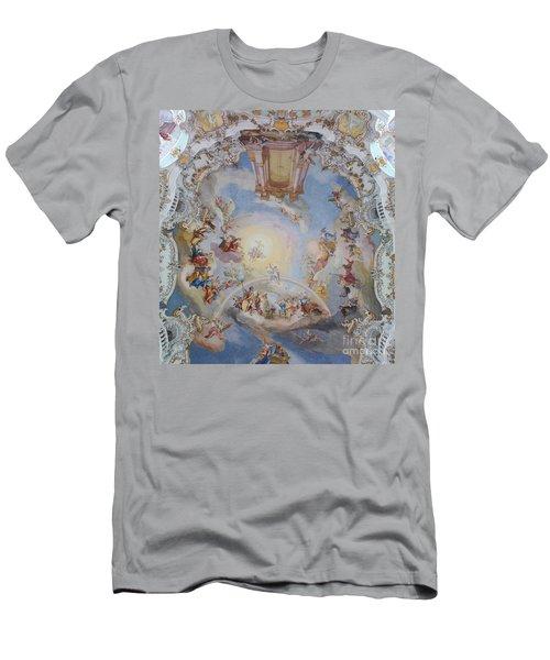 Wies Pilgrimage Church Bavaria Fresko Men's T-Shirt (Athletic Fit)
