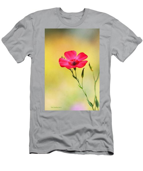 Wild Red Flower Men's T-Shirt (Athletic Fit)