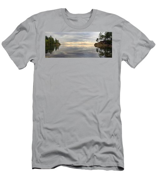 Men's T-Shirt (Slim Fit) featuring the photograph Wildcat Cove Along Chuckanut Drive In Washington by JPLDesigns