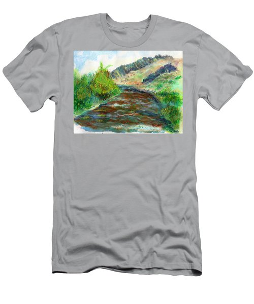 Willow Creek In Spring Men's T-Shirt (Athletic Fit)
